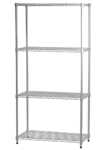 White Painted Wire Shelving with 4 Layers Shelves pictures & photos