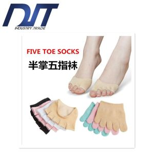 Men and Women Forefoot Thin Yoga Cotton Socks for Summer