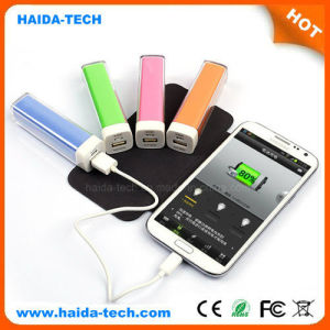 Colorful Lipstick 2600 mAh Power Bank with CE, FCC, RoHS Certificate