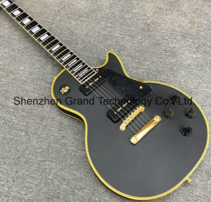 Lp Custom Black Electric Guitar with Ebony Fingerboard (GLP-202) pictures & photos