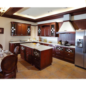 2015 Welbom European Style Home Furniture Solid Wood Antique Wood Kitchen Cabinet Design, Full Solid Wood pictures & photos
