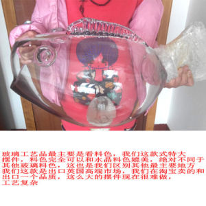 Wholesale Handmade Glass Figurines Fish Shape Bowl for Decoration