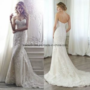 Sweetheart Mermaid Wedding Gowns Lace Court Train Bridal Dresses Z2023 pictures & photos