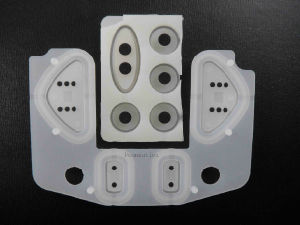 Corrosion Resistance Control Overlay Embossed Silicone Rubber Button Keypad pictures & photos