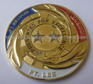 Gold Plated Soft Enamel Star Coin pictures & photos