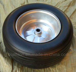 18 Inch 18X850 Ribbed Golf Car Flat Free Wheel pictures & photos
