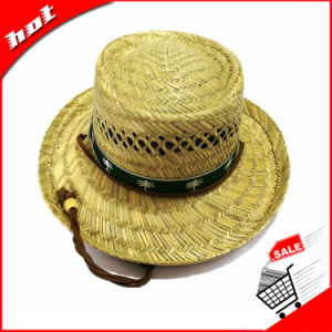 Hollow Straw Natural Straw Hat Promotional Fishing Hat pictures & photos