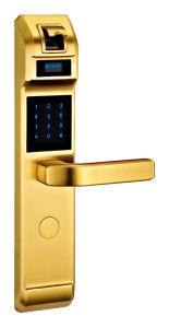 Brass Fingerprint Door Lock Password Door Lock and Card Lock pictures & photos