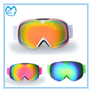 Oversized OEM Clear PC Snow Glasses with Elastic Strap pictures & photos