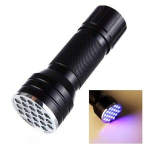 3AAA Aluminium Invisible Blacklight Detection 21 LED Ultra Violet Mini Portable Torch Light pictures & photos