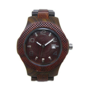 Factory OEM Fashion Hot Sale Wooden Wrist Quartz Watch pictures & photos