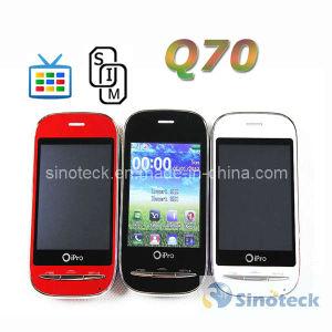 2.8 Inch Resistive Screen Q70 Quad Band Dual SIM TV Mobile Phone