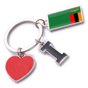 New Custom Metal Souvenir Zambia Keyring pictures & photos