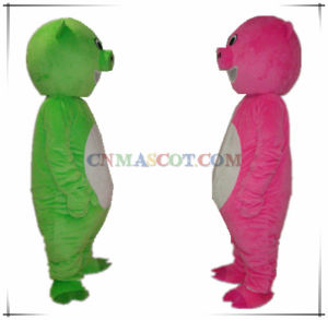 Good Sale Green and Pink Pig Mascot Costume pictures & photos