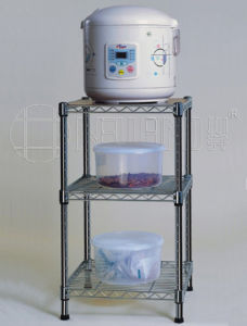3 Tier Adjustable Square Chrome Kitchen Tool Storage Rack (CJ-B1005) pictures & photos