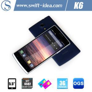 "High Quality 5.5"" Qhd Ogs Mtk6582 Quad Core 1GB+8GB Business Phone (K6)"