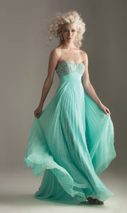 Turquoise Chiffon with Beading Prom Dress (WD12003) pictures & photos