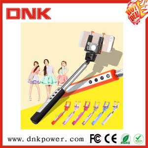 2015 Factory Direct Cable Newest Monopod, Handheld Cable Take Pole Foldable Q1 Model Selfie Stick with Remote