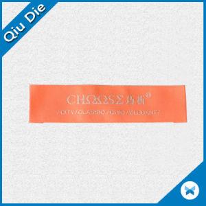 Orange Elegant Garment Woven Label with Custom Logo pictures & photos