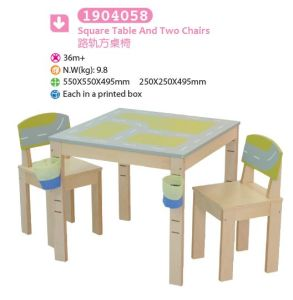Square Table and Two Chairs Children Furniture Kids Furniture pictures & photos