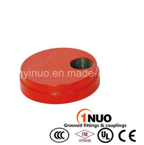 FM/UL Ductile Iron Grooved Cap with Eccentric Hole-1nuo Brand pictures & photos