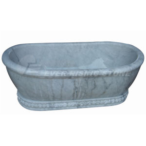 China Guangxi White Marble Bathtub