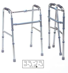 New Height-Adjustable Automatically Foldable Walker for Elder People and Rehabilition pictures & photos