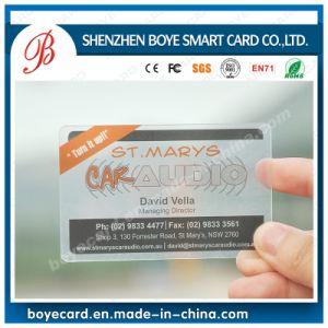 Popular PVC Transparent Name Card pictures & photos