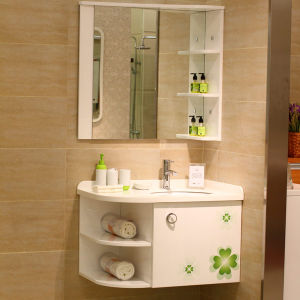 Oppein Lucky Clover High Glossy Lacquer PVC Bathroom Furniture (OP11-P12-82) pictures & photos