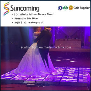 Tempered Glass Hot Selling 3D Mirror Time Tunnel Club Dance Floor pictures & photos
