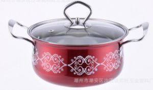 African Stainless Steel Cooking Pot with Painting Sp100 pictures & photos
