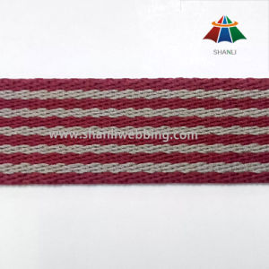 30mm Twill Woven Striped Cotton Polyester Webbing pictures & photos