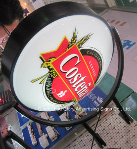 Rotating Round-Shape Illuminated Advertisement Light Box pictures & photos