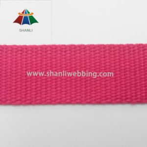 25mm Red Plain Weave Cotton Polyester Webbing pictures & photos