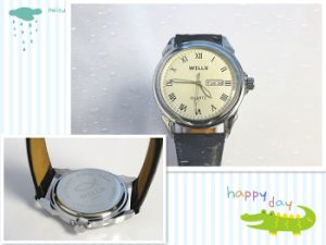 Genuine Leather Wrist Watch