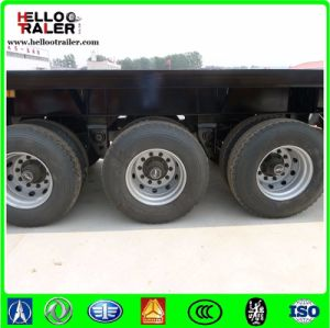 3 Axles 40FT 40-60 Tons Flatbed Container Transport Semi Trailer pictures & photos
