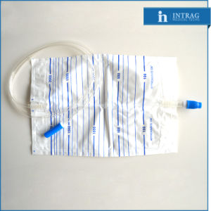 Sterile Disposable Drainage Bag with Push-Pull Valve pictures & photos
