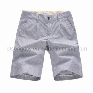 Gray 100% Cotton Men′s Leisure Shorts (GT121368) pictures & photos