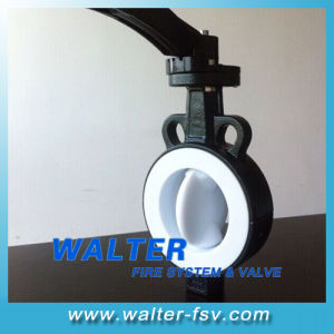 Full PTFE Seated Wafer Butterfly Valve pictures & photos