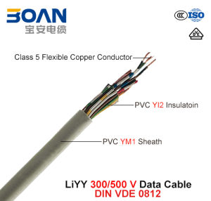Liyy, Data Cable, 300/500 V, Flexible Cu/PVC/PVC (DIN VDE 0812) pictures & photos
