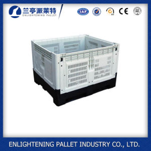1200X1000X810mm Foldable Pallet Container Crate Plastic Folding Pallet Crate pictures & photos