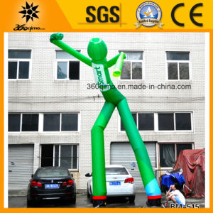 Custom 7m Green Inflatable Sky Dancer with 2 Legs