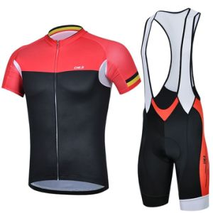 Short Sleeve Jersey Bib Shorts with Gel Pad pictures & photos