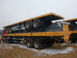 Cimc Brand Flatbed Container Semi Trailer pictures & photos