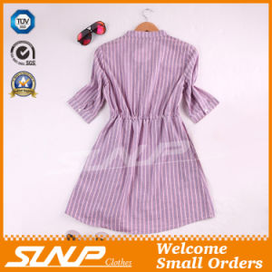 Fashion Women Stripe Shirt with Half Sleeve pictures & photos