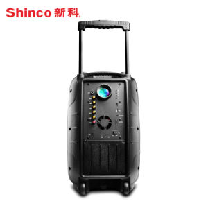 Multi-Functional Outdoor Karaoke Subwoofer Trolley Projection Speaker pictures & photos