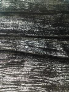 Wrinkle Silk Velvet in Plain Dye with Silver Foil
