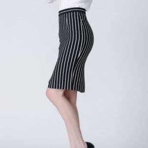 Fashion Colorful Stripe Hip Package Skirt for Women pictures & photos