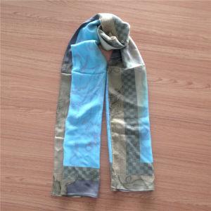 Wool Modal Long Scarf in Print