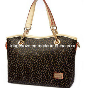 Copy Branded --- Brown PU Fashion Ladies Tote Handbag (KCH119-1) pictures & photos